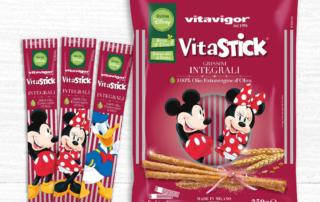 Vitavigor celebra i 90 anni di Topolino con la nuova linea di grissini Vitastick